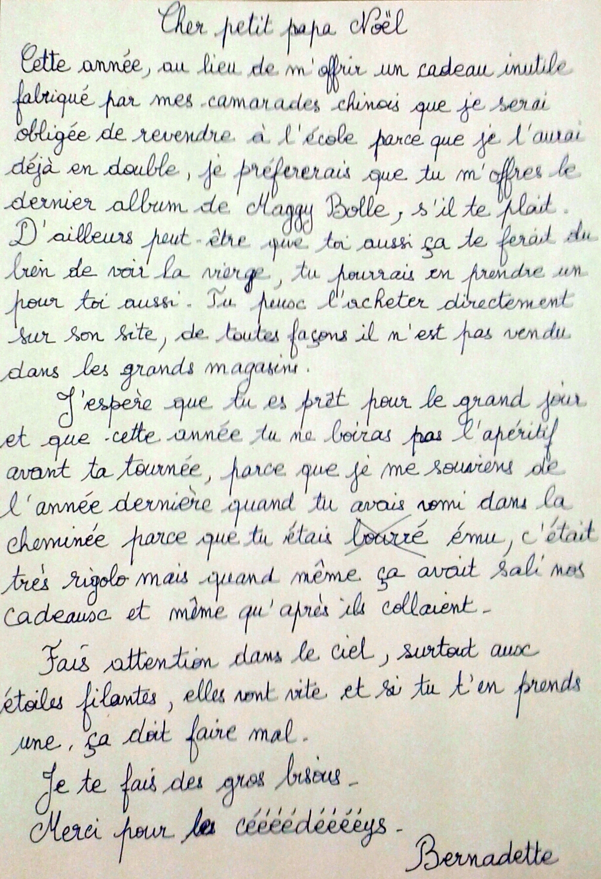 lettre au père-noël